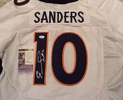 Emmanuel Sanders Autographed Signed White Broncos Jersey - JSA Certified