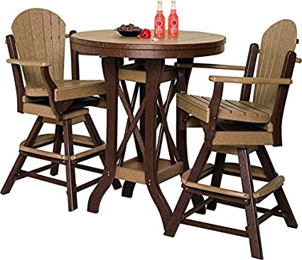 Amazon Com Poly Patio Set Including Round Table 54 And 5 Swivel
