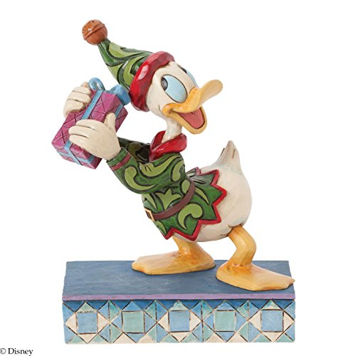 (Jim Shore for Enesco Disney Traditions by Donald Elf Figurine, 5.45-Inch)