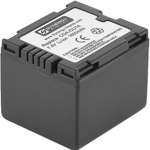 Panasonic SDR-H18 Camcorder Battery Lithium-Ion (1600 mAh) - Replacement for Panasonic CGA-DU14U Battery Cga Du14 Lithium Ion Battery
