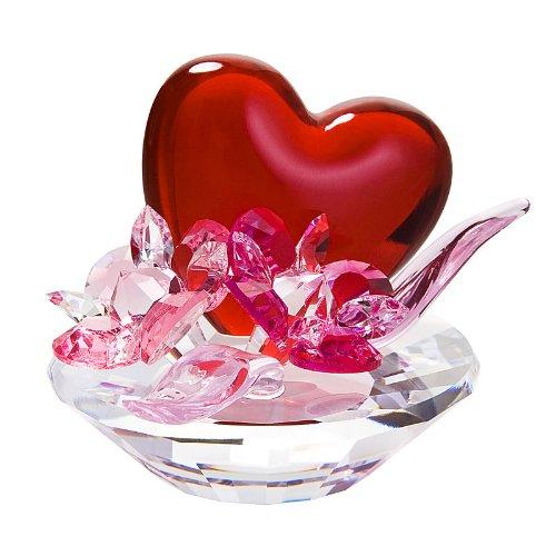 Preciosa Crystal Valentine Heart with Flowers -