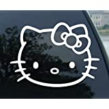 "Window Vinyl Decal Sticker wide 4 of Hello Kitty car ""(Color: White) Car Sticker (parallel import goods) (japan import)"