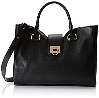 Ivanka Trump Rebecca Satchel Handbag,Black,One Size