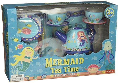 Schylling Mermaid Tin Tea Set