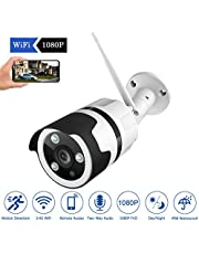 JOOAN 1080P Outdoor WiFi Security Camera, 2MP HD Wireless IP Home Surveillance Camera System with Super Night Vision,Motion Detection,Two Way Audio for Indoor Outdoor Bullet Camera(2019 New)