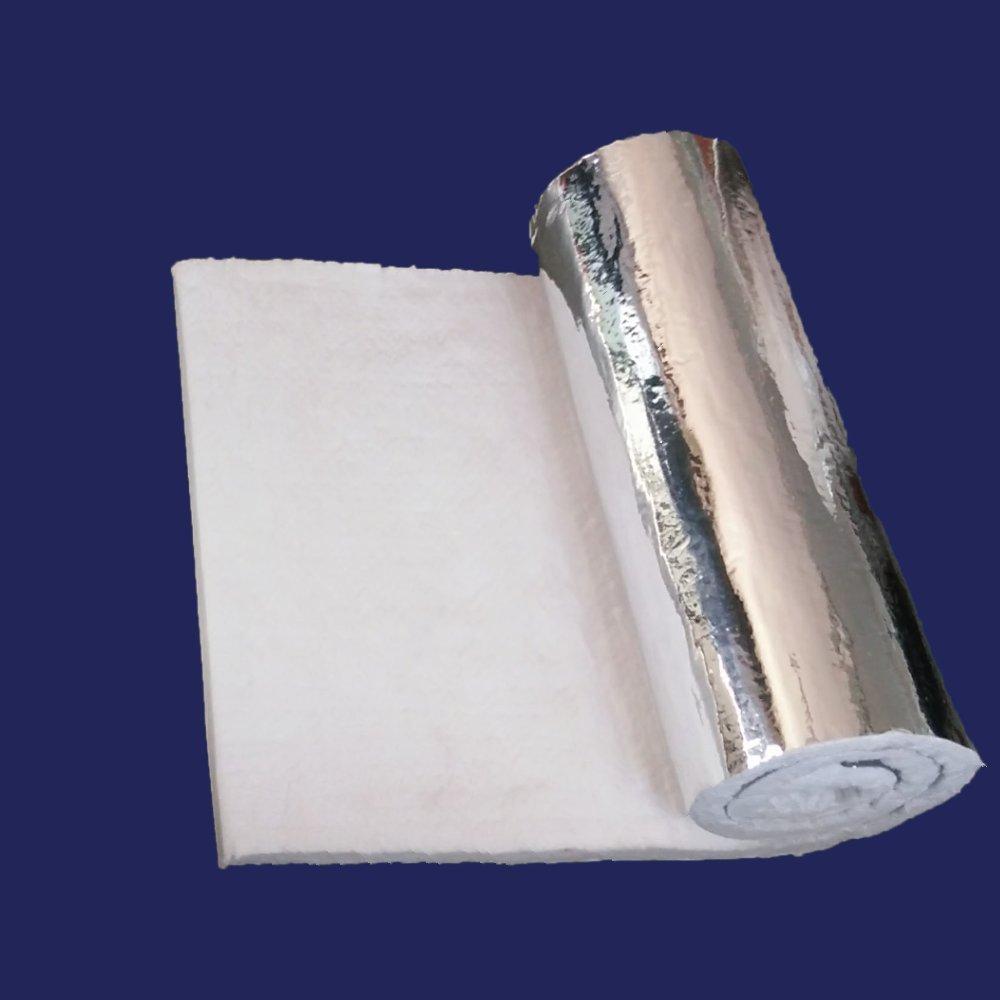 1'' Aluminium Foil Faced Ceramic Fiber Blanket Insulation 6# 2300F 24'' x 6'