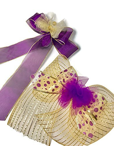 2 purple gold gift bows valentines day birthday shower bows bridal shower bows gift basket birthday