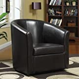 Barrel Back Chair Color: Dark Brown