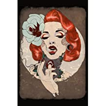 Smoking Hot by Amy Dowell Rockabilly Glam Tattooed Pin-Up Girl Framed Art Print