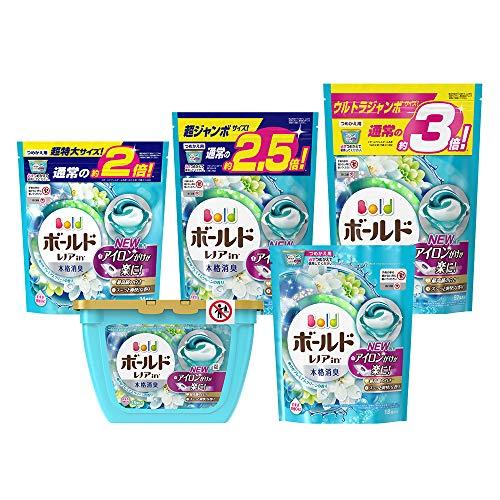 【ケース販売】 ボールド 洗濯洗剤 ジェルボール3D 爽やかプレミアムクリーンの香り 詰め替え 超特大 34個入×8個