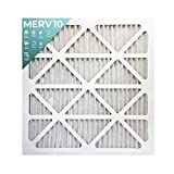 "20x20x1 Merv 10 Pleated AC Furnace Air Filters. 6 Pack (Actual Size: 19 ½""x 19 ½"" x 7/8"")"