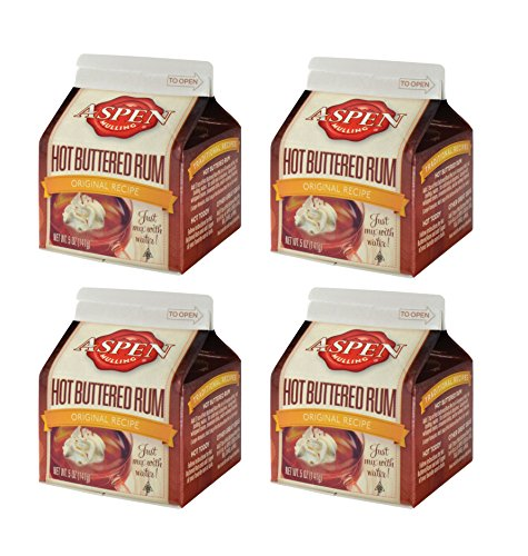 4 Pack of Aspen Mulling Spices Hot Buttered Rum Mix 5 Oz Cartons