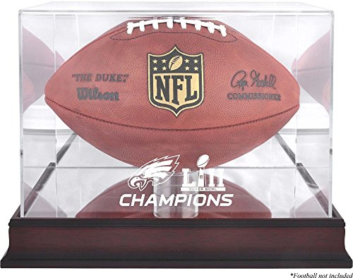 hiladelphia Eagles Super Bowl LII Champions Mahogany Football Logo Display Case - Football Logo Display Cases ()