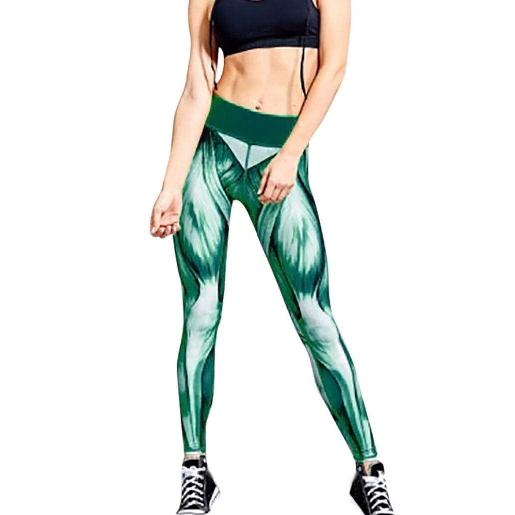 UK Women HOT 3D Print Leggings High Waist Yoga Pants Sports Workout Gym Trousers