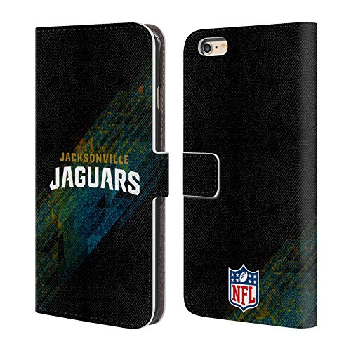 [Official NFL Blur Jacksonville Jaguars Logo Leather Book Wallet Case Cover For Apple iPhone 6 Plus / 6s Plus] (Jacksonville Jaguars Cover)