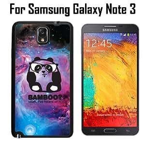 Bamboo Panda In Nebula Custom Case/ Cover/Skin *NEW* Case for Samsung Galaxy Note 3 - Black - Rubber Case (Ships from CA) Custom Protective Case , Design Case-ATT Verizon T-mobile Sprint ,Friendly Packaging - Slim Case