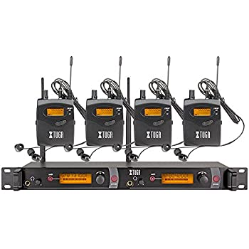 top quality xtuga rw2080 in ear monitor system 2 channel 4 bodypack monitoring. Black Bedroom Furniture Sets. Home Design Ideas