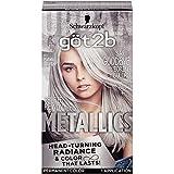 Got2b Metallic Permanent Hair Color, M71 Metallic Silver (Pack of 2)