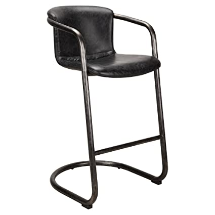 Outstanding Amazon Com Moes Home Collection Freeman Leather Counter Spiritservingveterans Wood Chair Design Ideas Spiritservingveteransorg