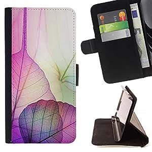 Momo Phone Case / Flip Funda de Cuero Case Cover - Hojas florales caída del otoño de la naturaleza - Samsung Galaxy E5 E500