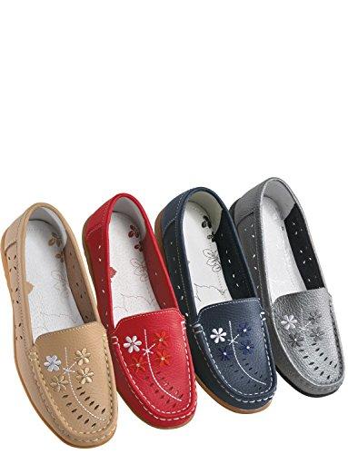 Señoras zapato Ee Scarlett Chums cómodo Fit peltre cuero qgvTxxdwnP