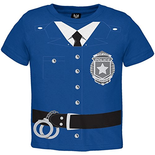 [Policeman Costume Toddler T-Shirt - 4T] (Policeman Uniform)