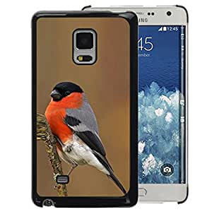 A-type Arte & diseño plástico duro Fundas Cover Cubre Hard Case Cover para Samsung Galaxy Mega 5.8 (Spring Winter Bird Nature Red Ornithology)
