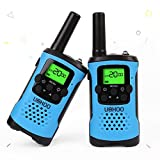 Kids Walkie Talkies, UOKOO Walkie Talkies for Kids 22 Channel FRS/GMRS Two Way Radio Up to 3KM UHF Handheld Walkie Talkies, Toys for 5-year Old Boys, Gifts for 7-year Old Boys and Girls (Yellow)