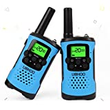 Kids Walkie Talkies, UOKOO Walkie Talkies for Kids 22 Channel FRS/GMRS Two Way Radio Up to 3KM UHF Handheld Walkie Talkies, Toys for 5-year Old Boys, Gifts for 7-year Old Boys and Girls(Blue)