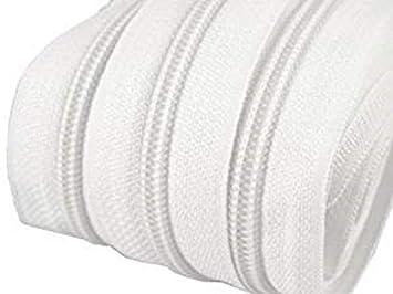 Endlose Reißverschluss mit Schiebern Farbe Weiß  5 1,50 € // M 10 m Auswahl