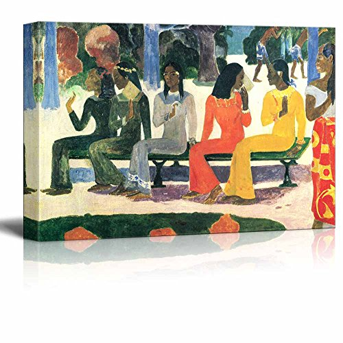 wall26 - Ta Matete, 1892 by Paul Gauguin - Canvas Print Wall Art Famous Oil Painting Reproduction - 24