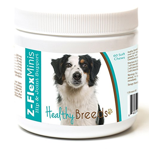 - Healthy Breeds Z Flex Minis Dog Hip & Joint Supplement Soft Chews for MiniatureAmericanShepherd - Over 100 Breeds - Small Breed Formula - Glucosamine Chondroitin MSM Omega - 60 Count