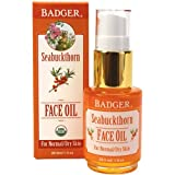 Badger Seabuckthorn Face Oil 1oz- Certified Organic