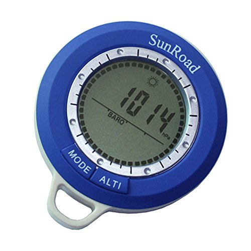 Sunroad 8-in - 1 Mini-wasserdicht-Digital Kompass Höhenmesser Barometer Thermometer Uhr-Wetterstation