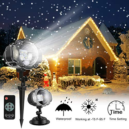 Projector Lights, Christmas Snowfall Projector Lights, IP65 Waterproof Rotating...