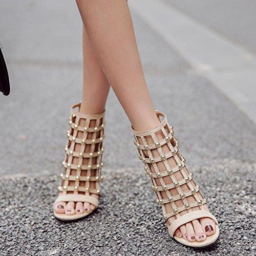 5bc248dc Outlet Sandalias Romanas Para Mujer Verano Sandalias Sandalias De Gladiador  Sandalias De Tacón Alto Peep Toe