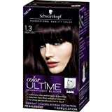 Schwarzkopf Color Ultime Magnificent Blacks Hair Coloring Kit, 1.3 Black Cherry (Pack of 2)