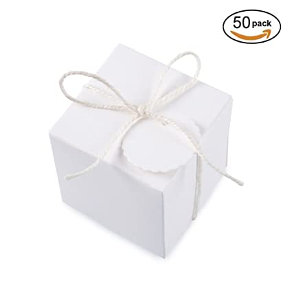 Super Amazon.com: White Gift Boxes 2x2x2 inch for Candy Treat Gift Wrap  IM66
