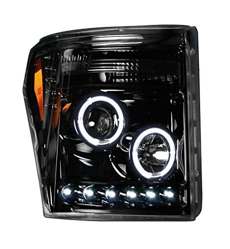 Ford Superduty 11-15 F250/F350/F450/F550 PROJECTOR HEADLIGHTS - Smoked / Black