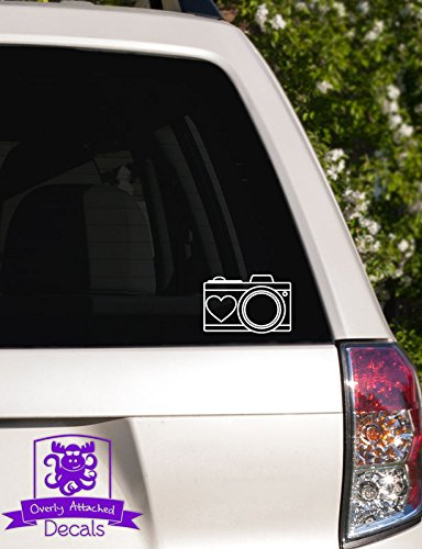 Camera with Heart Car Decal - 6