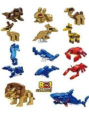 OneNext Mini Animal Juguete Bloque de Construcción Guay Favores de Fiesta para Niños, Bolsas de Regalos, Premios, Regalos de Cumpleaños (Paquete de 12, 6In1)