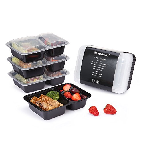 Meal Prep Containers Reusable 2 Compartment Food Storage Co
