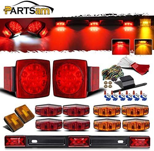Swify 2 Piezas 33LED Remolque LED Marcador Lateral Iluminaci/óN Marcador de Contorno Luz de Cami/óN Van Luces LED para Remolque 12-24V