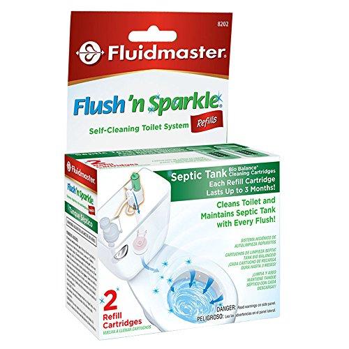 Fluidmaster 8202P8 Flush 'n Sparkle BioBalance Septic Refills, 2-Pack