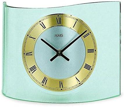 Reloj de mesa analógico AMS golf vidrio opalino B21cm: Amazon.es ...