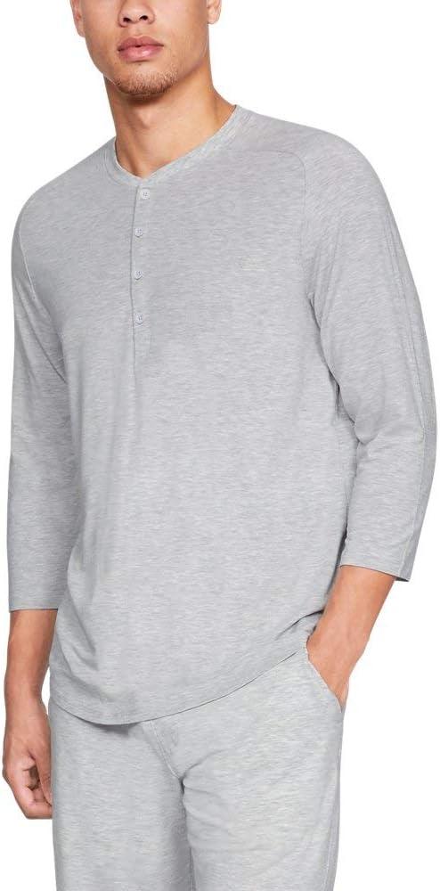 1329518-388 Under Armour Athlete Recovery Sleepwear 3//4 Sleeve Henley Shirt
