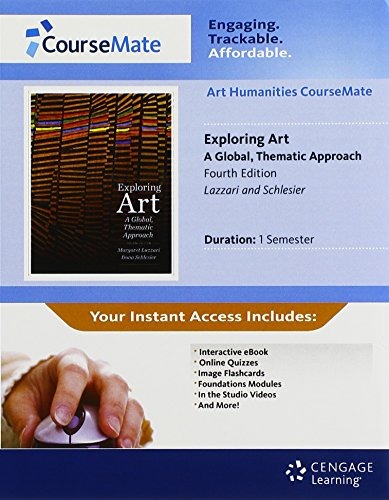 CourseMate Printed Access Card for Lazzari/Schlesier's Exploring Art: A Global, Thematic Approach, 4th