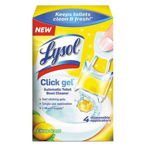 Lysol Click Gel Automatic Toilet Bowl Cleaner, 4 count(Pack of 3) (Citrus Scent) (Benckiser Citrus Scent Reckitt)