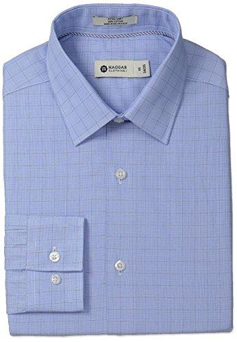 aid Point Collar Regular Fit Long Sleeve Dress Shirt, Sky, 16.5x32/33 (Point Glen Plaid Dress Shirt)