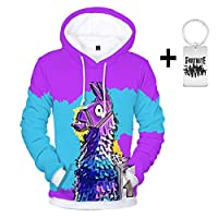 Memoryee Unisex Fashion Galaxy Animal 3D Print Hoodie with Kangaroo Pouch Oversize Couple Pullover Sweatshirt